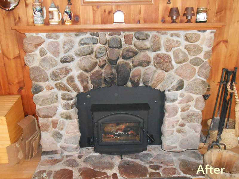 Owner Chose To Install A New Fireplace Insert Rather Than Invest In Restoration Plus The Produces More Heat And Uses Less Wood