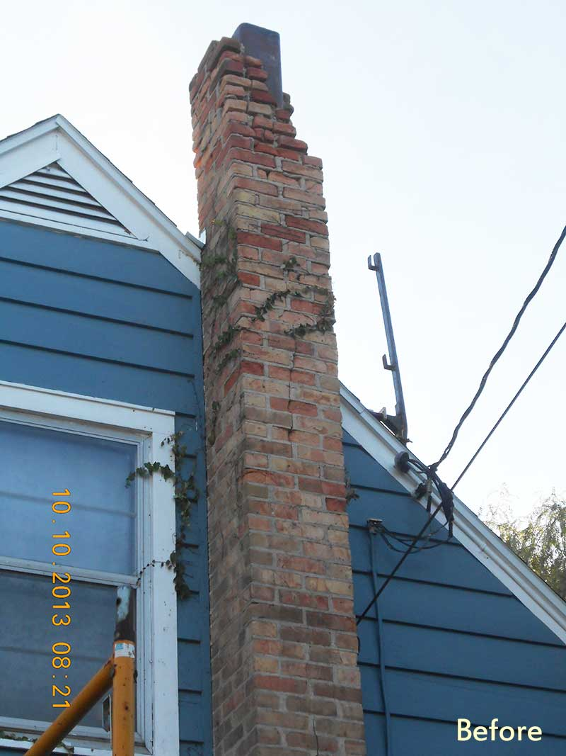 Chimney Rebuild Storm Damage To Masonry