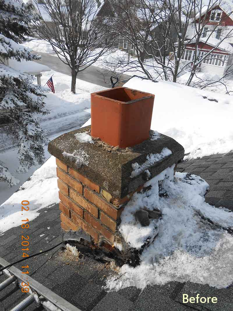 The First Photos Show A B Vent To Replace Deteriorated Masonry Chimney Venting Only Gas Next Set Of An Old Metal