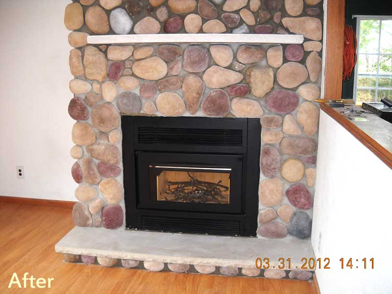Fireplace Insert Owner Had Inefficient Masonry And Flue That Also Needed Repairs Chose To Install A New Rather Than